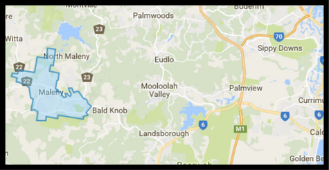 Map of Maleny