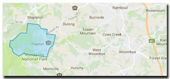 This is a picture of a map of Flaxton Qld
